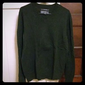 Cotton Cashmere Eddie Bauer V-neck Sweater